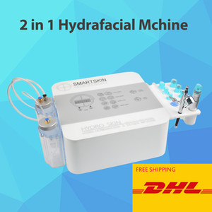 New version 2 in 1 portable hydra dermabrasion peel facial hydrafacial oxygen spray gun spa salon use facial care machine