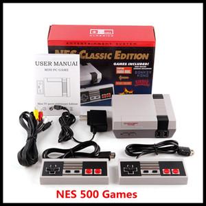 Clásico juego de TV vídeo consola portátil más nuevo Sistema de entretenimiento de juegos clásicos para 500 Nuevo Modelo Mini Edición NES Consolas libre de DHL
