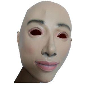 Weibliche Maske Latex Silikon Machina realistische menschliche Haut Masken Halloween Tanz Maskerade Beautiful Pary Geschlecht decken Frauen auf