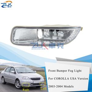 ZUK Front Bumper Fog Light For Toyota For Corolla Sedan   Matrix ZZE130 2002-2004 Just For US Version