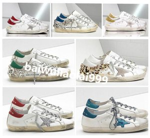 2020 NEW Italy Multicolor Golden Superstar Gooses Sneakers Men Women Classic White Do-old Dirty Shoes Low Heels Rhinestones Casual Shoes