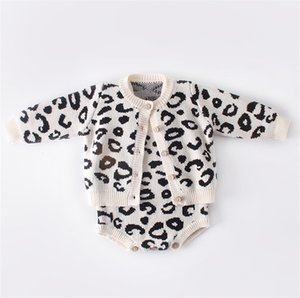 2019 Moda Invierno Bebé recién nacido del leopardo ropa suéter Puentes Cardigan o Romper 0-18M