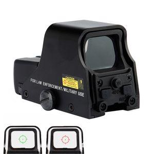 Tactical 1X22mm Голографическая Reflex Red Green Dot Sight Открытый Близорукость Scope Яркость Регулируемая 551 552 553 черный.