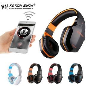 KOTION КАЖДОЙ B3505 Wireless Bluetooth 4. 1 Stereo Gaming Headset Наушники Volume Control Микрофон HiFi Музыка Гарнитуры игровой W605 10pcs DHL