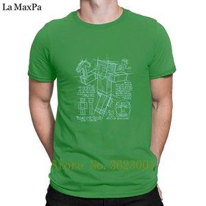 Charakter Baumwolle Herren-Plan Minecraft T-Shirt frei versendenden Mann Lustige beiläufige Männer Clever-T-Shirt Herren Schlank