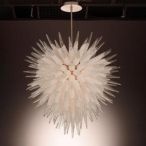 호텔을위한 램프 무라노 유리 샹들리에 램프 매달려 현대 대형 샹들리에 조명 맑고 투명 볼 크리스탈 샹들리에 LED