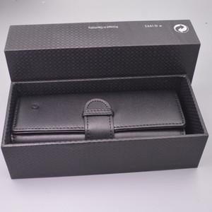 MB Pen Novo Luxo Capa Para Top Grade portátil couro preto caixa de lápis como presente dos namorados aniversário do Natal com caixa original Packaging