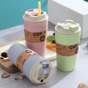 Travel Water Bottle Eco-Friendly Bamboo Drink Bottle for Kids Sports Water Bottle Leak-proof Coffee Drinkware