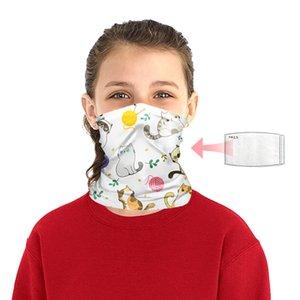 Karikatür Eşarp Çocuk Tüp Yüz BWA715 Yaz Bisiklet Yürüyüş Açık 11 Styles için Bandana UV Koruma Boyun tozluk Headband Maske