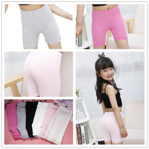 Kids Girl Modal Shorts Safety Pants Baby Childs Dress Safety Short Leggings Pants Underwear Lace Short Tights Anti-alight Shorts Cheap E3303