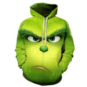 2020 nuove donne di uomo caldo 3d mostro verde Grinch mascotte hoodie grinch Felpa Natale ha rubato per le ragazze si allontanano i bambini felpe 6XL Ypf631