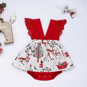 Bebé recién nacido de Navidad chica del vestido del tutú mono del mono de ropa Trajes
