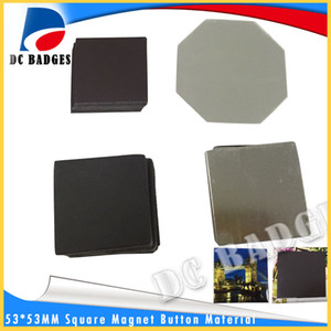 500sets 53*53mm Square magnetic button badge material without pictures wholesale