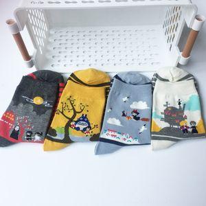 Cartoon Anime Kikis Service Delivery Tonari no Totoro Sous-vêtements Sous-vêtements de femmes Miyazaki Hayao No Face Femmes Chaussettes chaudes Coton drôle mignon