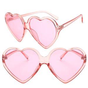 Women Heart Shape Summer All-Match Sunglasses Lens Goggles Sun Glasses Middle Frame Vintage Eyewear Lens