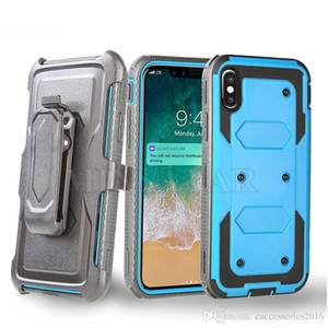 Caixa de cinto de design giratório Combo Defender À Prova de Choque para iPhone 12 Pro Max 12-Mini 11 6 7 8 Plus XR