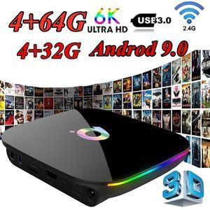 Q Plus Smart TV Box Andrid 9.0 Allwinner H6 4GB-32GB 64GB 6K H.265 Media Player USB3.0 2.4G WiFi Set Top Box PK S905X2 T95Q X96 Max