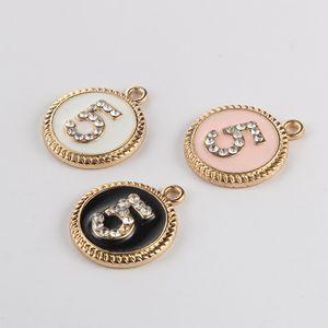 Nuovi 5 Charms classica del pendente tondo Gioielli fai da te Manuale Bracciale incanta numero di braccialetti del pendente