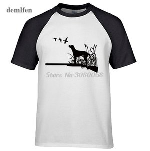 Mode manches raglan MENS T-shirt Nouveau design sportif Fish Hunt cerf Gun poisson Imprimer T-shirt Demlfen Marque Vêtements T-shirts cool