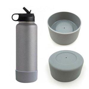 Posavasos de silicona para 32 oz y 40 oz botella de vacío inferior de la cubierta protectora de goma Cap Copa matraz de fondo cubierta RRA2488