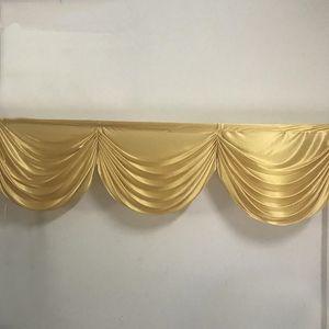 2M 3 rideau jupe rideau rideaux butin festons petite table de backdop de mariage d'or pour la décoration de butin fête d'événement