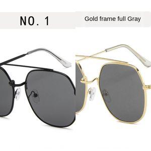 doble viga de metal de los hombres y de las mujeres gafas de sol de la manera personalizada gafas de sol Moda Océano Film