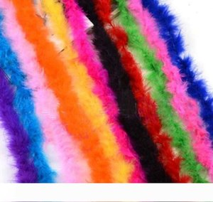 NEW 2 meter Feather Strip Wedding Marabou Feather Boa Party Supplies Accessories Decor Event Gift