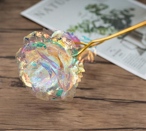 Рождество Gift 24k Gold Foil покрыло Rose Творческие подарки Длится Навсегда Роза на День Святого Валентина подарок девушка Э