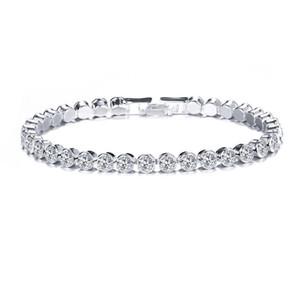 Fashion Charm CZ Tennis Bracelets for Women Men One Row White Clear Zircon Jewelry Braclets Gift Bracelet Pulseira
