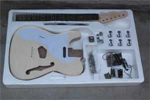 Fabrika Özel Yarı Hollow Vücut Maun gövdeli Electric Guitar Solak, isteğiniz gibi özelleştirilebilir
