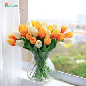 28pcs fiori artificiali ramo tulipano per la decorazione domestica prezzo basso alta simulazione regalo di san valentino soggiorno matrimonio bouquet T8190626