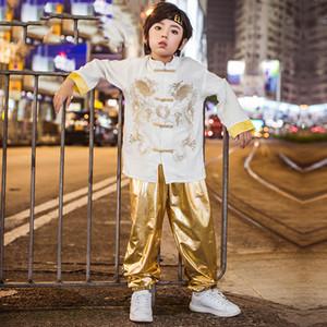 Nuevo desgaste de la danza calle niños Tang traje de manga larga niños Hiphop Día de los niños rendimiento etapa trajes para niños BL2164