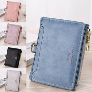 Mini Leather Wallet Women Lady Short Coin Pouch Women's Purse New Cute Cherry Small Change Wallets Coin Bag 2 Fold Purse