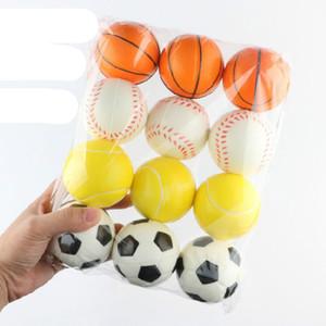Baseball Soccer Basketball tennis Sponge Balls 6.3cm Soft PU Foam Ball Fidget Relief Toys Novelty Sport Games For Children Free Shipping