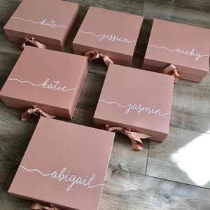 Персонализированные розового золота невесты Предложение коробка подарка, Will You Be My невесты, Свадьба День рождения Девица Чести коробок благосклонности