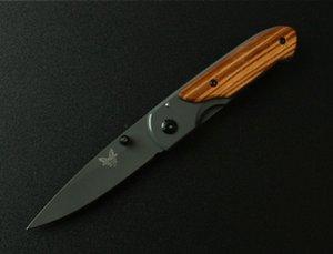 Manual de aço inoxidável Benchmade DA44 lançamento Mini bolso faca dobrável bolso cortador de campismo faca 10pcs Adul