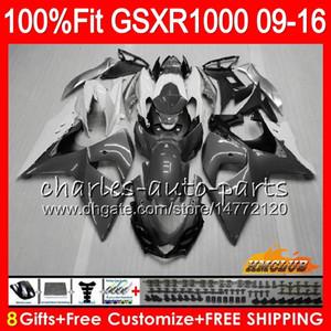 Впрыск для SUZUKI GSXR-1000 GSXR1000 09 10 11 12 13 15 16 серебристо-серый 16HC.53 K9 GSXR 1000 2009 2010 2011 2012 2014 2015 2016 Обтекатель