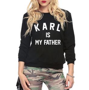 Karl est mon père kawaii survêtements cool automne femmes hoodies o-cou harajuku sweat polaire femme marque tops