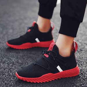2019 primavera estate nuovi uomini alla moda casual maglia traspirante atletico a piedi studente moda snella scarpe da corsa sneakers