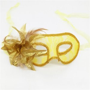 Translucent Masquerade Pure Handmade Plastic Mask Yarn Flower With Feather Lilies Masks Sexy With Multicolor Practical Easy Carry 2 6mg cc