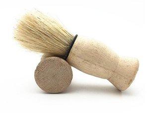 Belleza caliente de la salud Naturaleza Mango de madera Cepillo de afeitar suave para hombres Puro Pelo de nylon grande Limpieza suave de la cara Maquillaje Maquinilla de afeitar facial Herramientas de afeitado