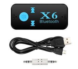 Adaptador Bluetooth X6 3-em-1 Sem Fio 4.0 USB Receptor Bluetooth AUX 3.5mm de Áudio Jack TF Leitor de Cartão de MIC Chamada Suporte Falante Do Carro