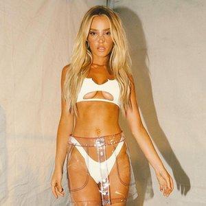 2020 européenne et du commerce extérieur Explosion Maillots de Split American Women pur tissu spécial creux sexy taille haute Bikini 9103
