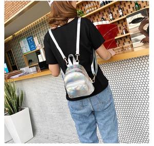 Women's shiny laser mini backpack 2020 new Korean style fashion multifunctional small backpack mini bag women