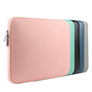 Великобритания Кожа PU водонепроницаемый Laptop Sleeve сумка Защитные Zipper ноутбук чехол Крышка компьютера для 11 13 15inch для Macbook Air Pro