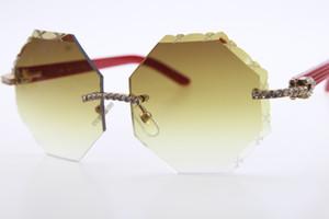 Verkauf von Diamant-Gläsern 4189706 Red Plank Sonnenbrille Qualitäts-Sonnenbrillen für Männer Goggle Big Stone Metall Sonnenbrillen C Dekoration Gold f