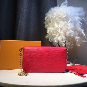2020 neuer Top-Luxus klassische Leder Designer schwarz rote Handtasche Leder-Umhängetasche Damen Leinwand messenger Portemonnaie Damen Außentasche