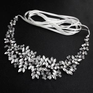 Ceinture de mariée de luxe oeil de cheval diamant fait main perlée taille accessoires de robe de mariage JCK033