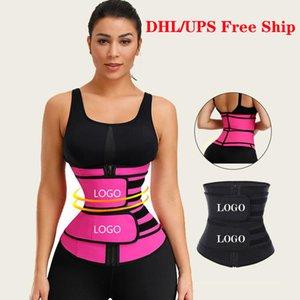 Nave libre de DHL talladora del cuerpo de Fajas de compresión doble cintura recortadores de látex de Cintura que adelgaza las correas de la panza de la cintura Trainer