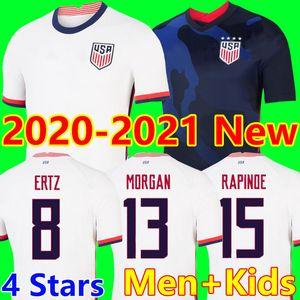 4 star new USA camiseta de fútbol 2020 World cup copa America Soccer Jersey Lavelle Shirt champion USA  camisa  LLOYD RAPINOE KRIEGER futebol United States kit camisa de futebol